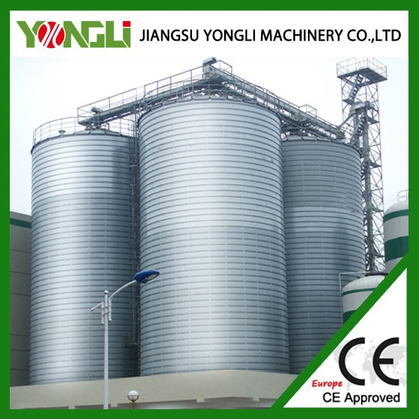 Bulk steel cement silo maize and soya storage along dryer and cleaner