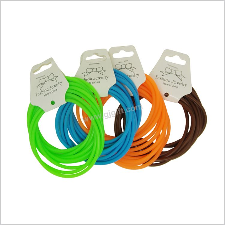 Hot promotional factory direct elastic silicone hair tie band