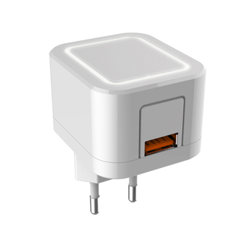 Wall Charger LED Light Travel Charger with EU US Plug