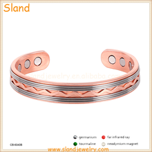 European and American popular health care products magnetic arthritis copper cuff bracelet for men