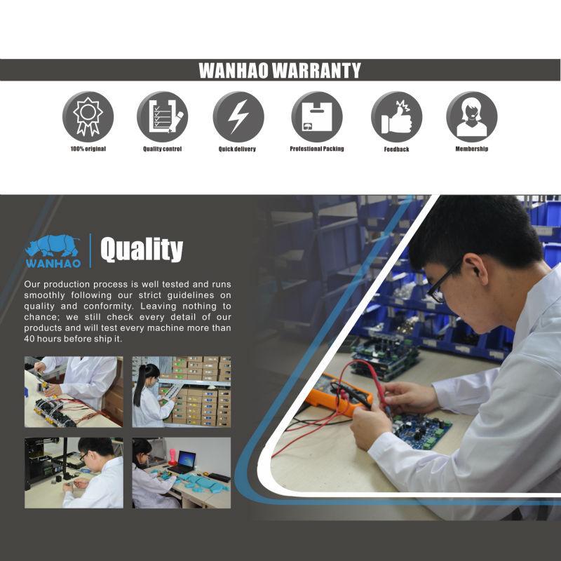 Hot Sale Wanhao 3D Printer Digital Prusa I3 V2 3D Metal Desktop Printer Print Size 200*200*180mm Christmas Price