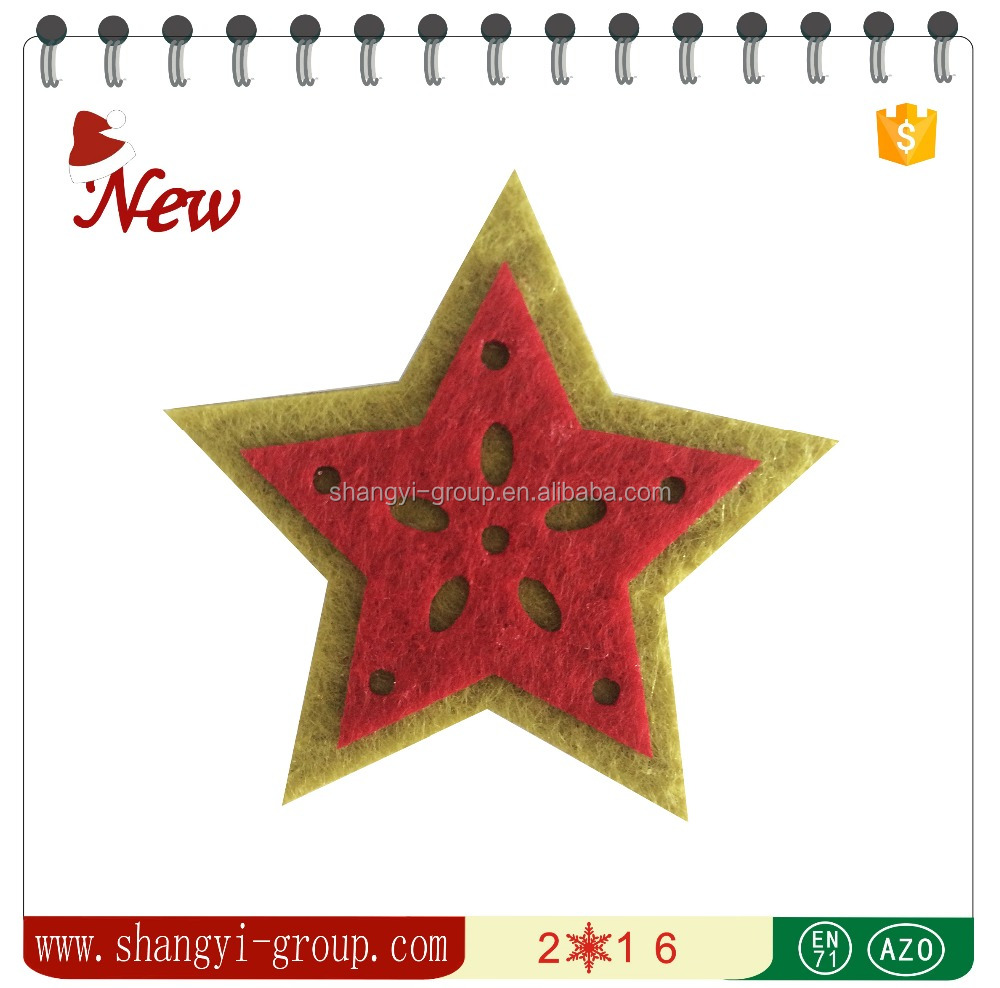 (XM4-20)Double Layering stars stick decorative felt animal ornament