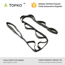 TOPKO Wholesale cotton manufacturer carry strap yoga poses Yoga Stretch Strap