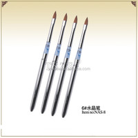 wholesale fashional nail art 6#kolinsky sable brush for Salon Manicure Tips NAS-8