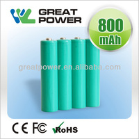 AAA NI-MH Rechargeable battery cell1.2v 800mAh nimh battery cellrechargeable battery cell