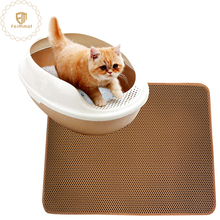 Double-Layer Honeycomb Non-slip cat cleaning Litter mat