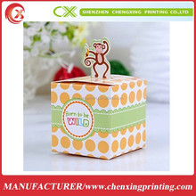 Stock Aroma Baby Shower Boxes Party Candy Gifts Box with Monkey Handle In Delhi