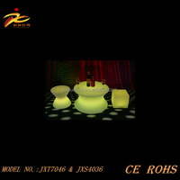 CE&ROHS approved illuminated plastic led coffee table/led table/led furniture for party,events