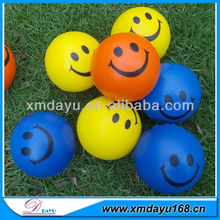 colorful Smile face anti stress ball