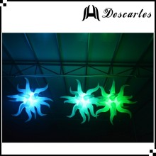 2m oxford cloth decorative led inflatable hang star models for wedding/club events