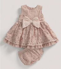 champagne lace baby dress
