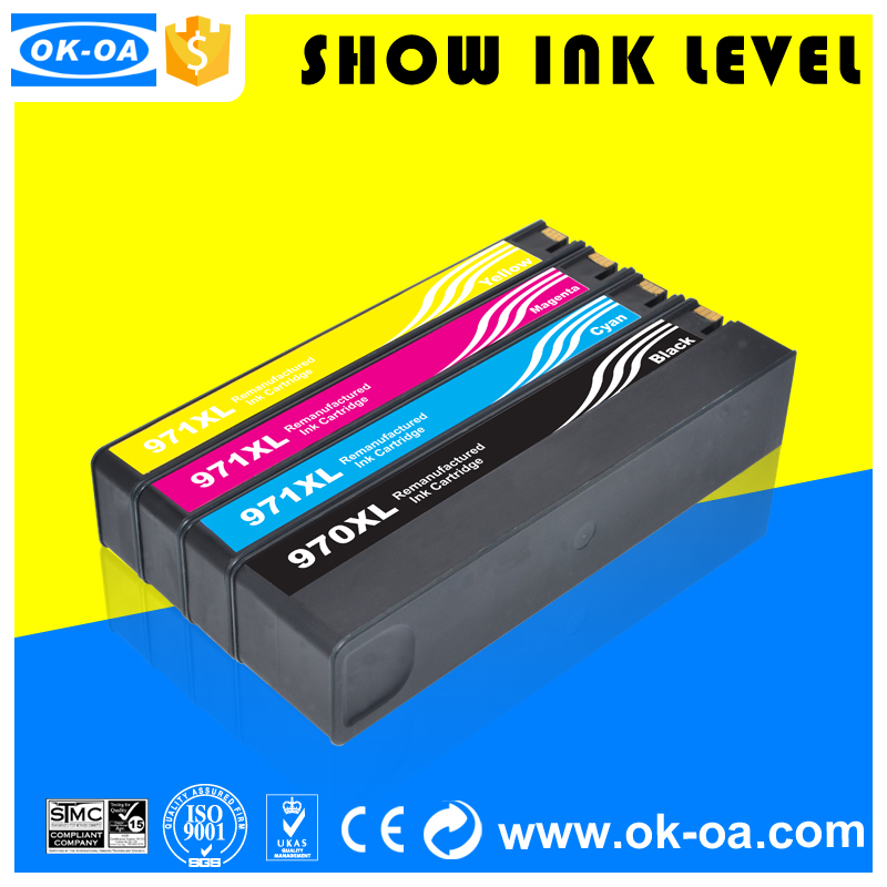 best price compatible <strong>ink</strong> cartridge for hp 970xl 971xl printers officejet pro x451dn used virgin empty cartridge <strong>ink</strong>