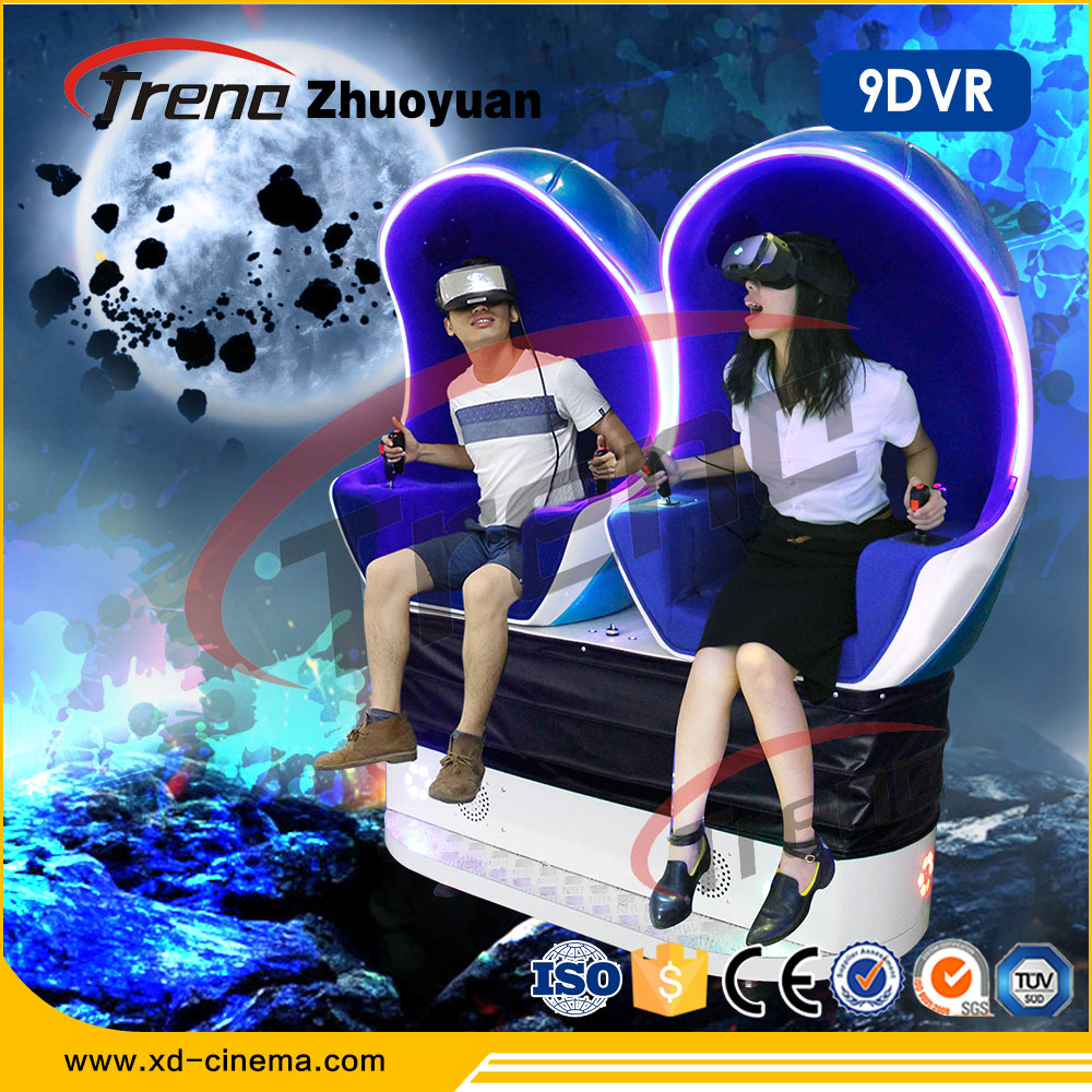 Most Attractive Business 9d VR Cinema 3 Blue Seats 5dcinema 9D Cinema VR Egg