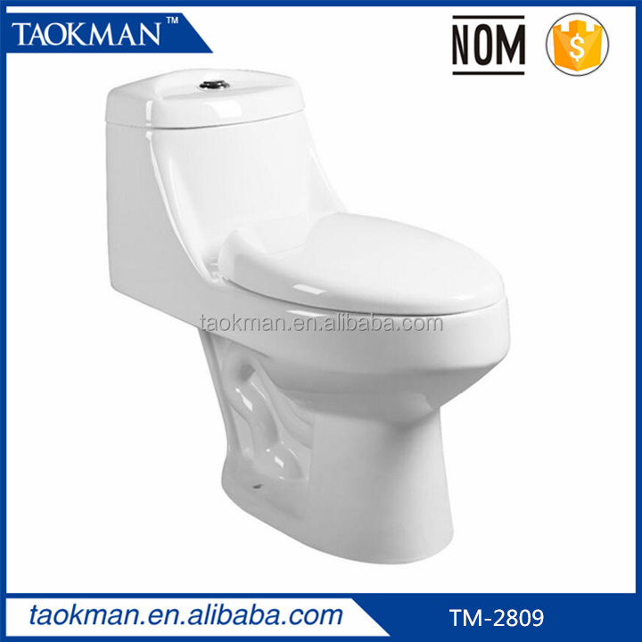 Siphonic Toilet Mexico NOM One piece toilet bowl upc Chinese toilets