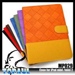 New arrival Ultra thin Stand PU leather case for ipadmini with sleep function
