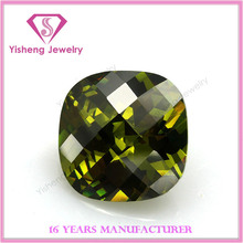 cz loose chinese precious stones olive green gemstone
