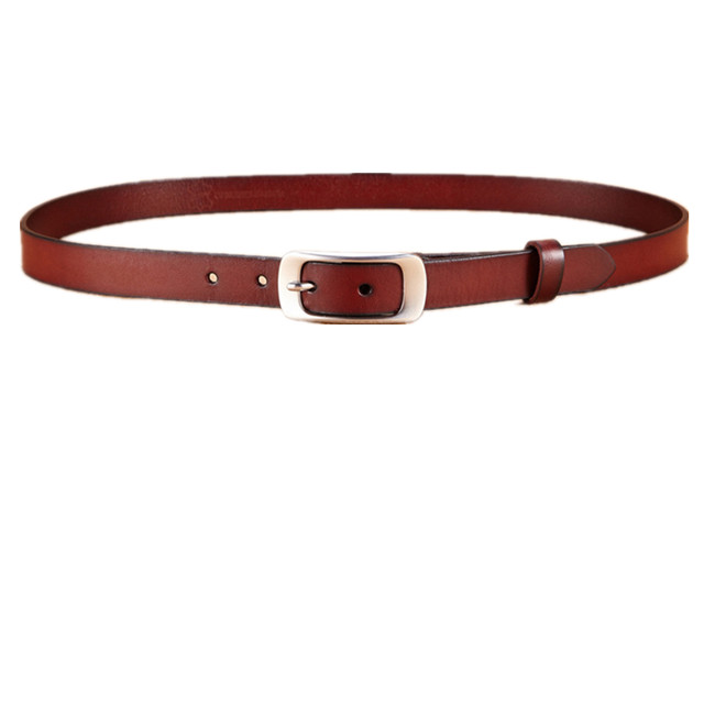 factory directly new design women solid color luxury genuine leather belt