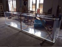 customized clear cast acrylic fish tank/large acrylic aquarium