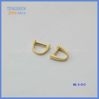 manufacture zinc Alloy ring for lady's handbag wholesale free sample