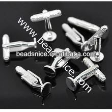 Brass Cuff Link Findings 8mm Nickel-Free Lead-Safe wholesale alibaba design your own cufflinks