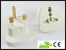Hot selling plug with socket travel adapter 2 pin to 3 pin plug with safety shutter