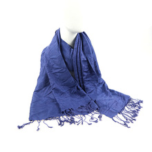 New design paisley jacquard solid color viscose scarf for woman