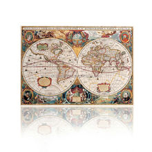 Canvas Map Prints Wall Art/Hanging Wall Map/Fabric World Map Vintage