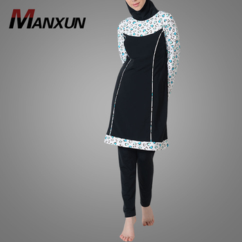 Islamic Clothing White Hearts Swimwear Attractive Muslim Fashion Clothes Malaysia Swimsuit