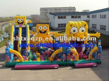 Hot sell inflatable Spongebob fun city