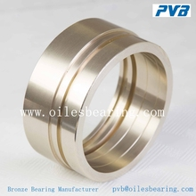 anti-wear brass bearing, shoulder sleeve oil grooves double loop CuSn5Pb5Zn5 brass bronze bearing,dry sliding sintered bearing