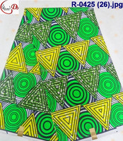 R-0516 African style 6 yards each piece high quality Real wax printed fabric