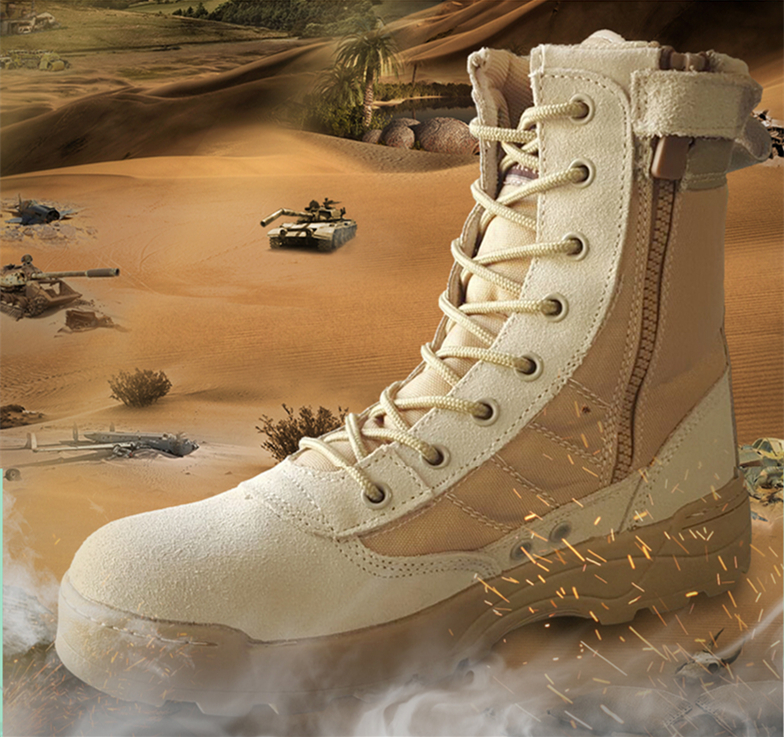 Hot Selling Cheap Outdoor Men US Army Combat Tactical Desert Military Boots Jungle Boots 39-45