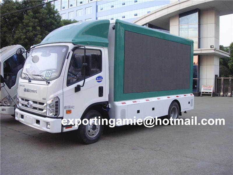 hot selling forland 4*2 led mobile advertising truck with rolling billboard