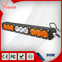 double row 12v Offroad 4X4 wholesale amber led light bar 90w led offroad light bar