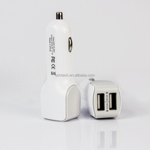 New Car Charger Adaptor 5V 3.1A 2 Port White Car USB Charger 12 v Cheap Price