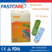 CE Sterile Flexible Kids Cartoon Adhesive Bandage