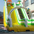 Hola used swimming pool slide/cartoon inflatables slides for kids
