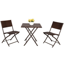 3 Piece Rattan Table And Chairs Patio Deck Outdoor Bistro Cafe Furniture Wicker Set Cheap Cane Furniture