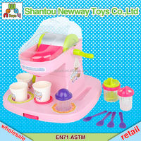 Play at home deluxe sweet candy plastic ice cream machine maker toy children pretend toy