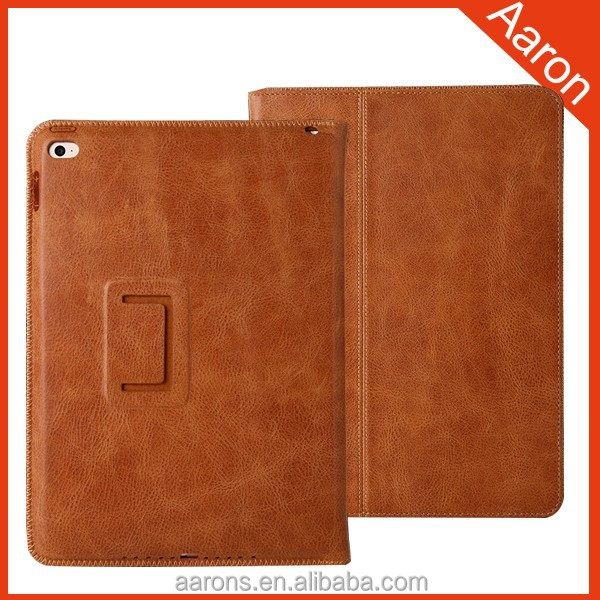 Italian leather case edge stitching tablet case for ipad air 2 case
