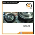 Vacuum investment casting turbine disc for diesel turbochargers