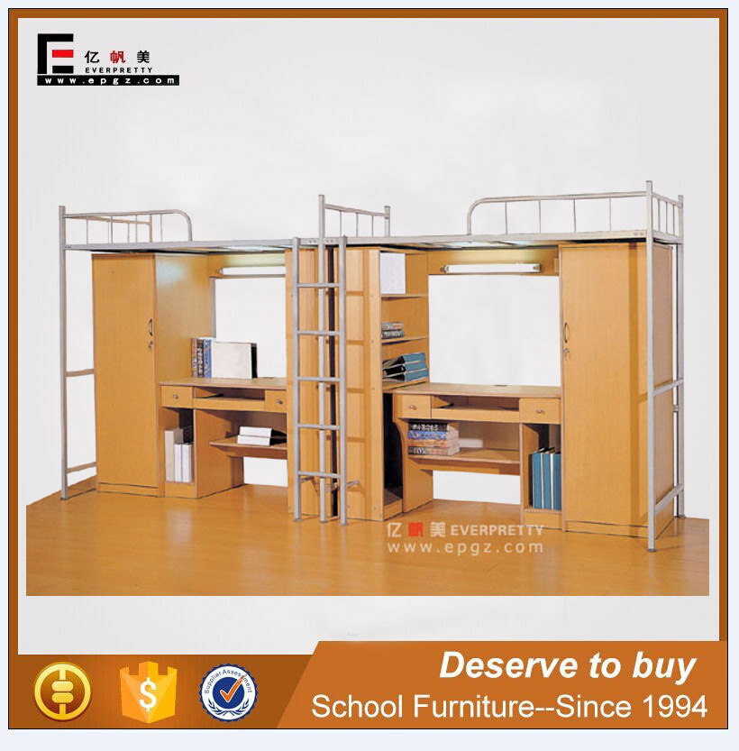 everpretty bunk bed with study table