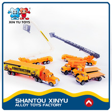 New engineering scale model diecast excavator forklift cheap plastic toy trucks for kids