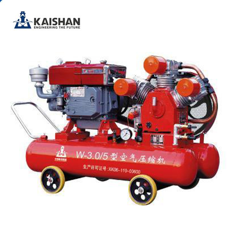 zhejiang kaishan portable 5 bar diesel engine piston air compressor with air tank