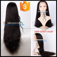 2016 Best Selling Wholesale Factory Price Cuticles Remy Hair No Shedding Tangle Free Long Black Straight Hair Wig