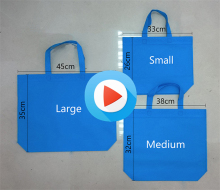 Professional Wholesale PP Non woven fabric laminated advertising custom reusable foldable shopping bags with logo