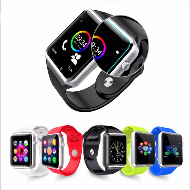 2016 New <strong>A1</strong> Bluetooth Smart Watch Wrist Watch Men Sport Watch For Android Phone 0.3Mp Camera SIM+TF Card Slot 450Mah Battery