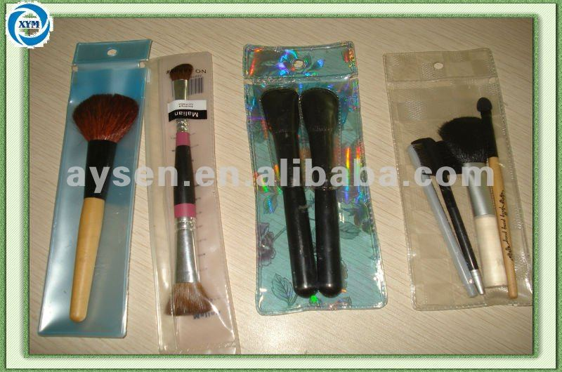 PVC brush bag/cosmetic bags free samples