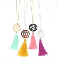 DeMi 249 wholesale monogrammed fashion tassel neck lace