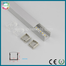 Square deep recessed led aluminum extrusion enclosure with plate for led strip
